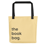Yellow book bag tote library books market bag