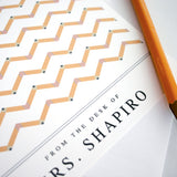 Pencil Chevron Note Cards