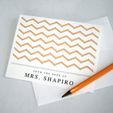 Custom Notecard Pencil Chevron Personalized Teacher Present Note cards appreciation gift