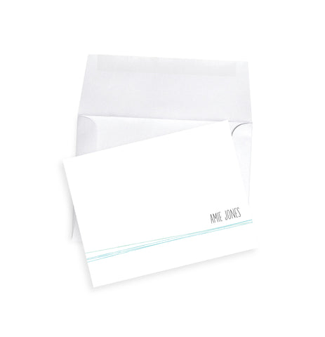 Mimimalist personalized notecard set