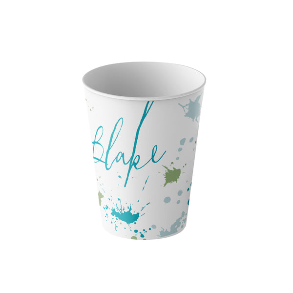 fun kids cup for bathroom personalized with name and colors