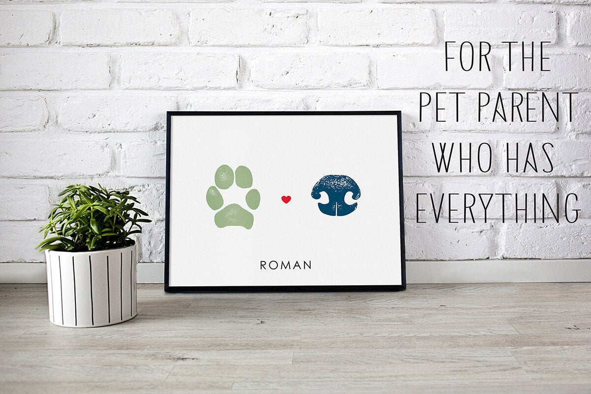 Custom Pet Paw Print Art
