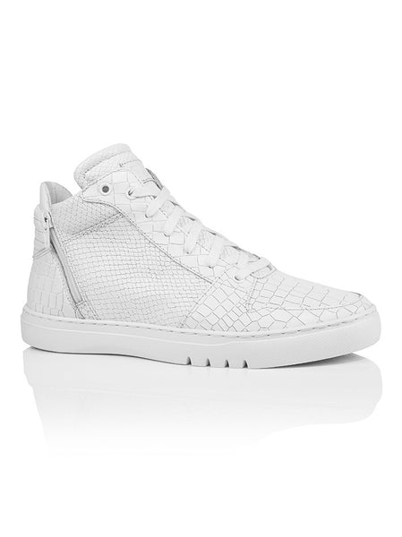 Creative Recreation Adonis Mid CR0170001 White Croc Snake