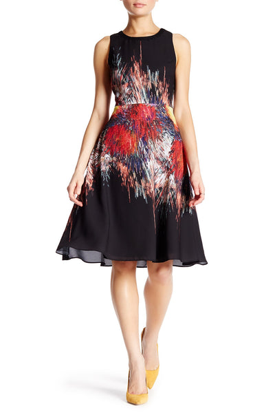 Julia Jordan Sleeveless Flared Dress