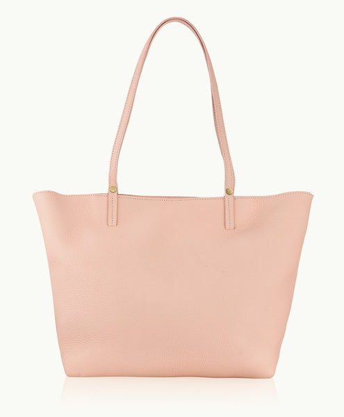 GiGi New York Tori Tote Blush Pebble Grain Leather