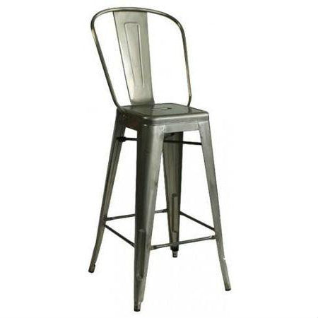 Industrial Gunmetal Bar Stool
