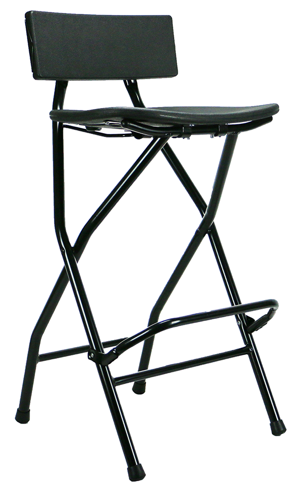 Black Metal/Plastic Bar Stool