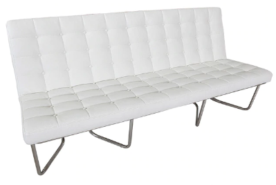 Modern White Leather Lounge Sofa