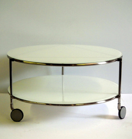 Silver and Frosted Glass Coffee Table