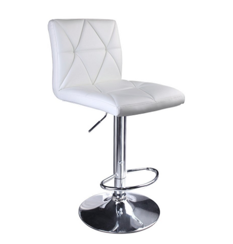 Modern Bar Stool - White, Black, or Orange