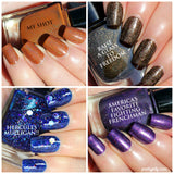 Hamilton musical inspired nail polish collection, holographic, shimmer, indie nail lacquer, handmade, gift