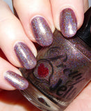 Pretty Jelly, nail polish, holographic, purple nail color, vegan cosmetics, indie nail lacquer, fall nails