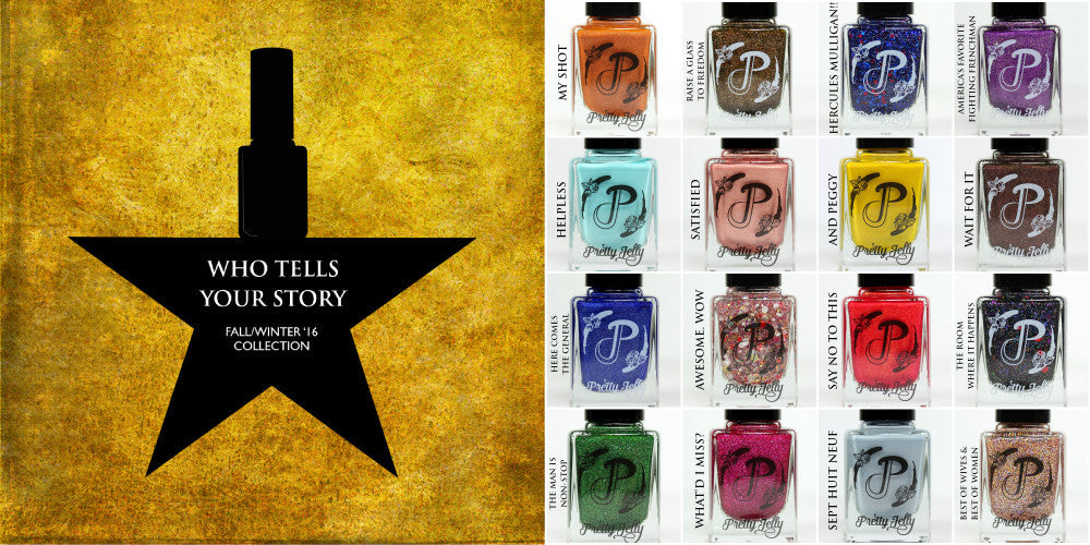 Hamilton Musical Fandom Inspired Nail Polish Collection