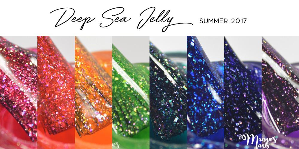 Deep Sea Jelly Collection, Pretty Jelly, Summer, Holographic Flakie, Nail Polish
