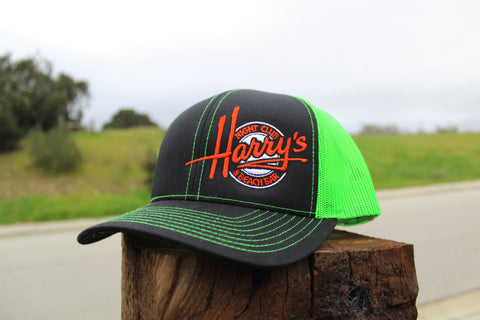 Neon Green & Orange Trucker Hat