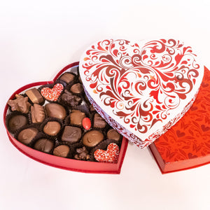 Red Swirl Heart Box