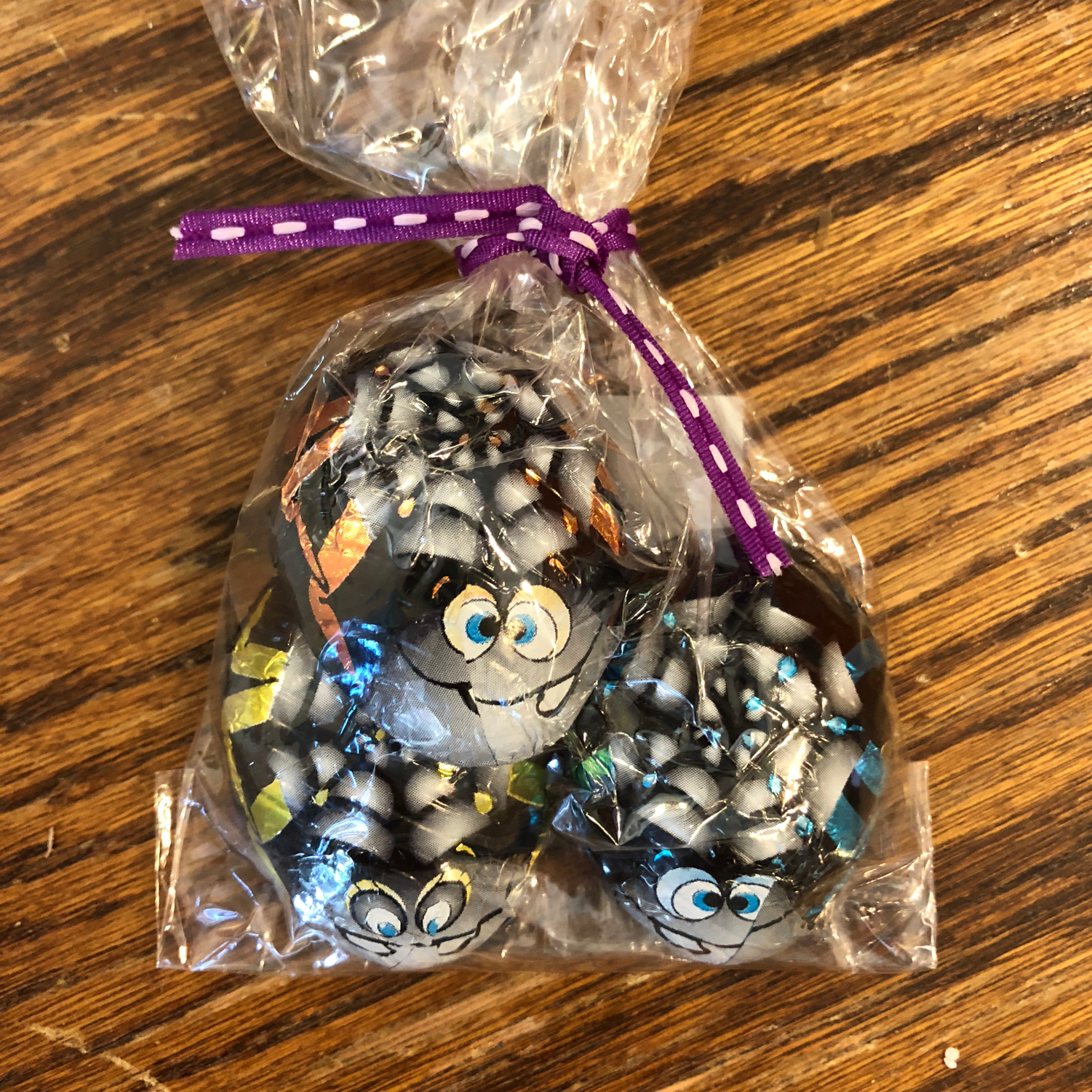 Chocolate foil wrapped Spiders