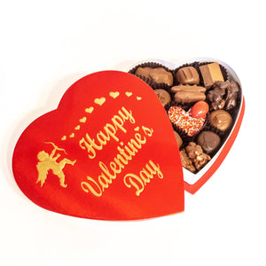"1/2 lb. Red Foil ""Happy Valentine's Day"" Heart"