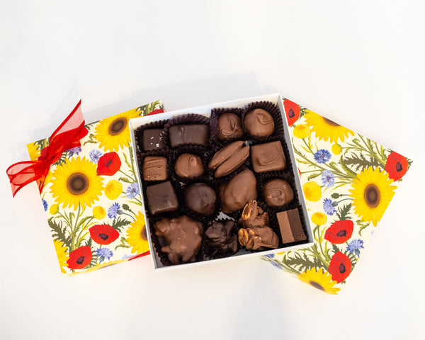 Assorted Chocolates Summer Flower Box