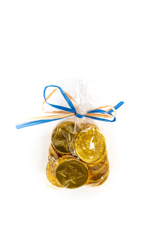 Hanukkah Gold Coins filled with Chocolate