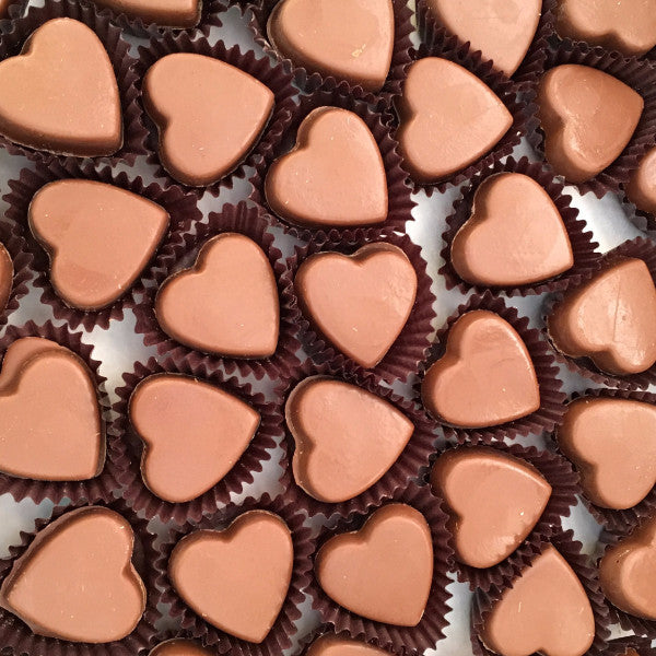 Chocolate hearts (small bite size)