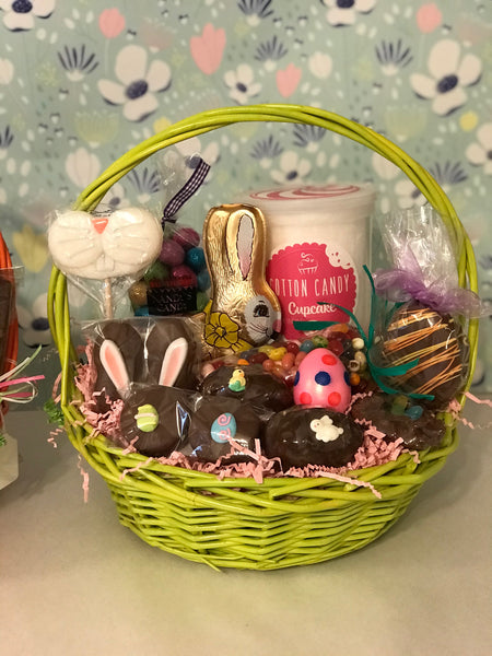 Large Bright Round Easter Basket