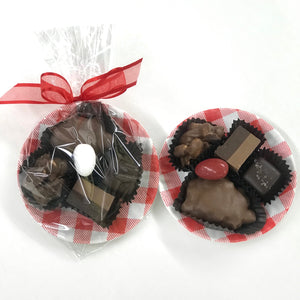 Red Check Picnic Candy Plate