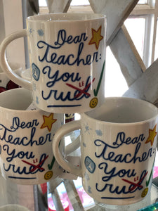 Teacher's Rule Mugs