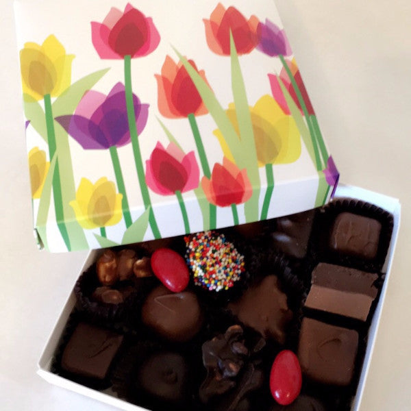 Assorted Chocolates in Flower Box