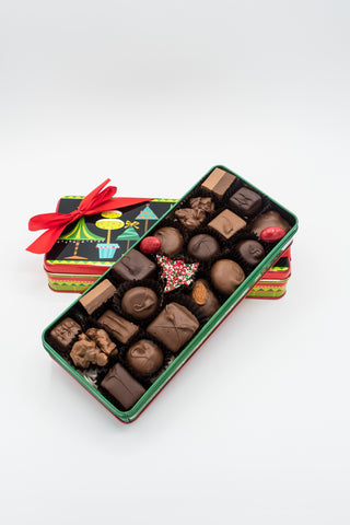 Holiday Tins with Assorted Chocolates