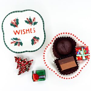 Red & Green Christmas Pedestal Plates