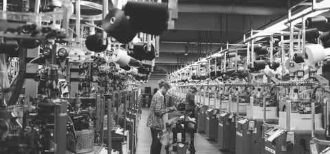 View of a Knitting Line - Photo by Jordan Brannock