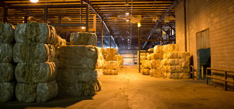 Bales of Greasy Wool - Photo by Jordan Brannock