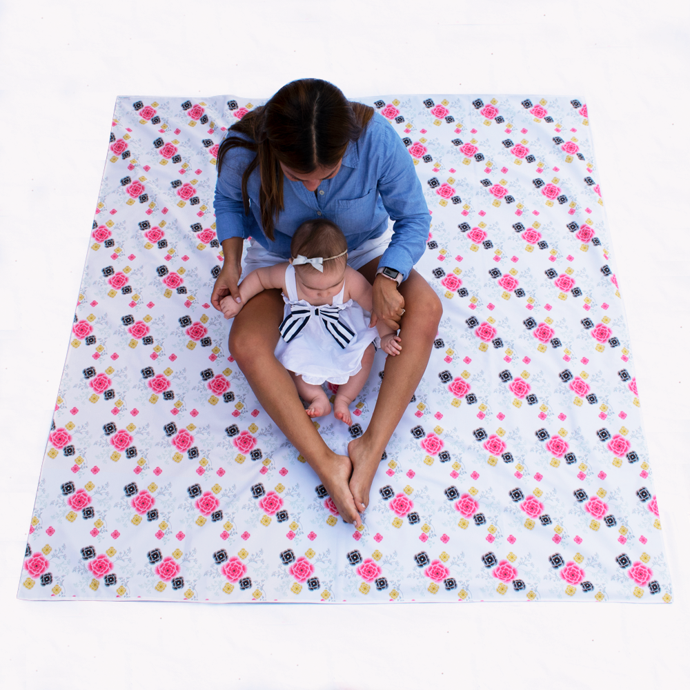Flower Swaddle Mat - Family