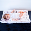 Wipeable Cotton Changing Pad Cover - Brave