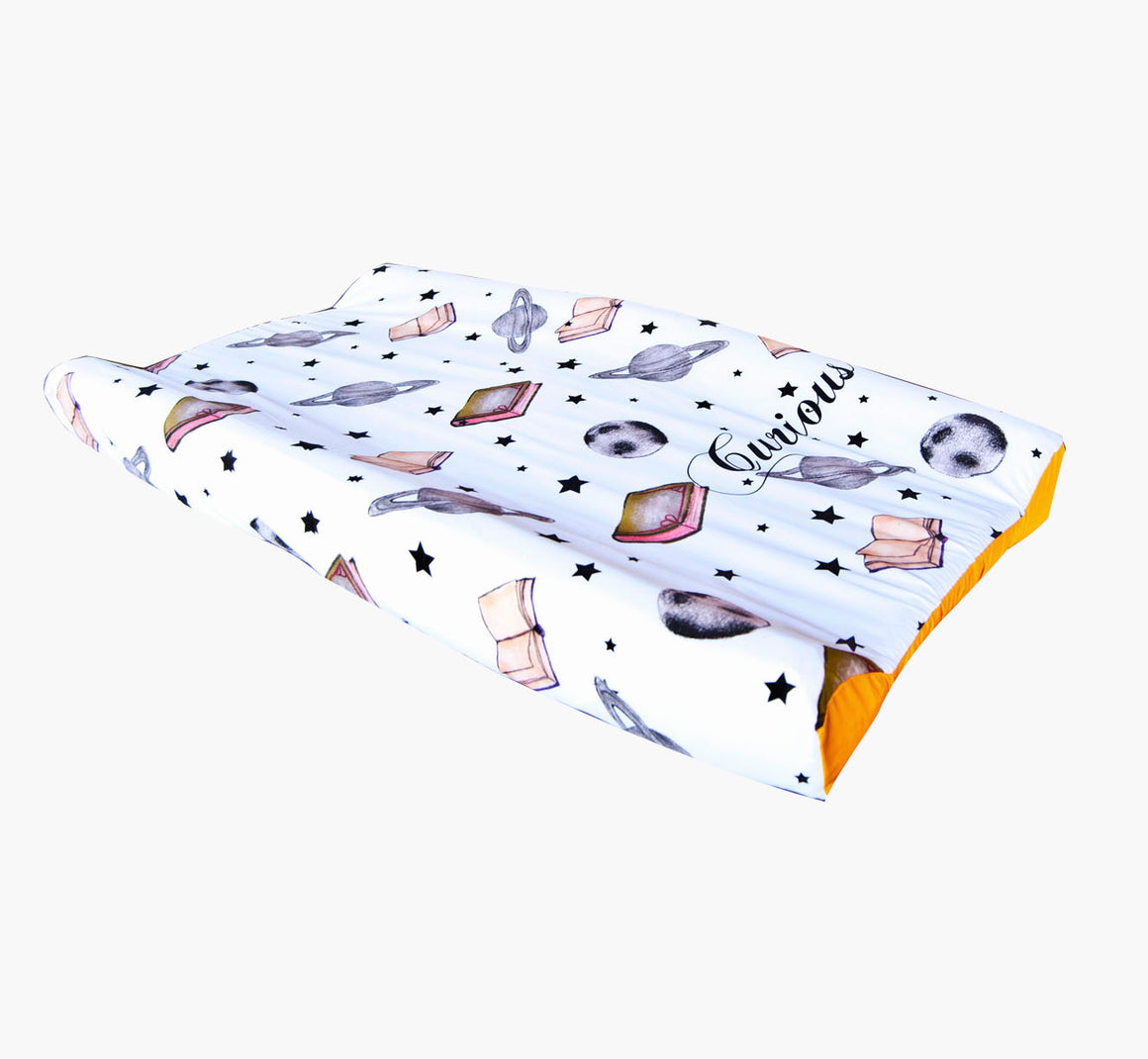 Wipeable Cotton Changing Pad Cover - Curious