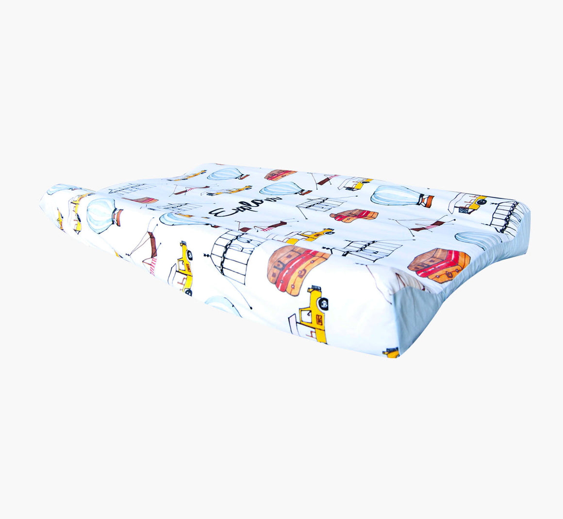 Wipeable Cotton Changing Pad Cover - Explorer