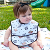 Baby Water Resistant Cotton Bib -Curious