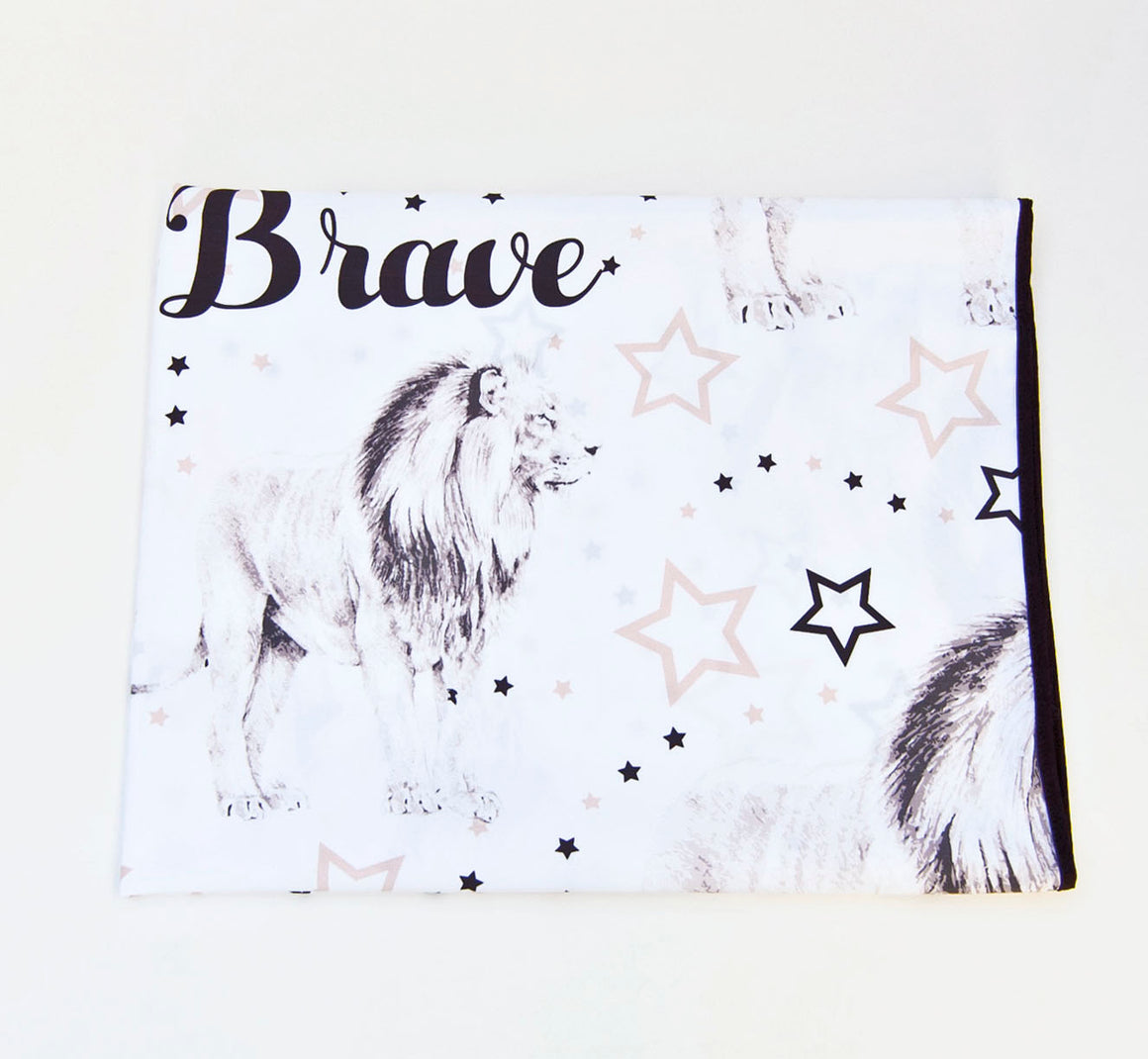 Play water resistant cotton Swaddle Mat - Brave