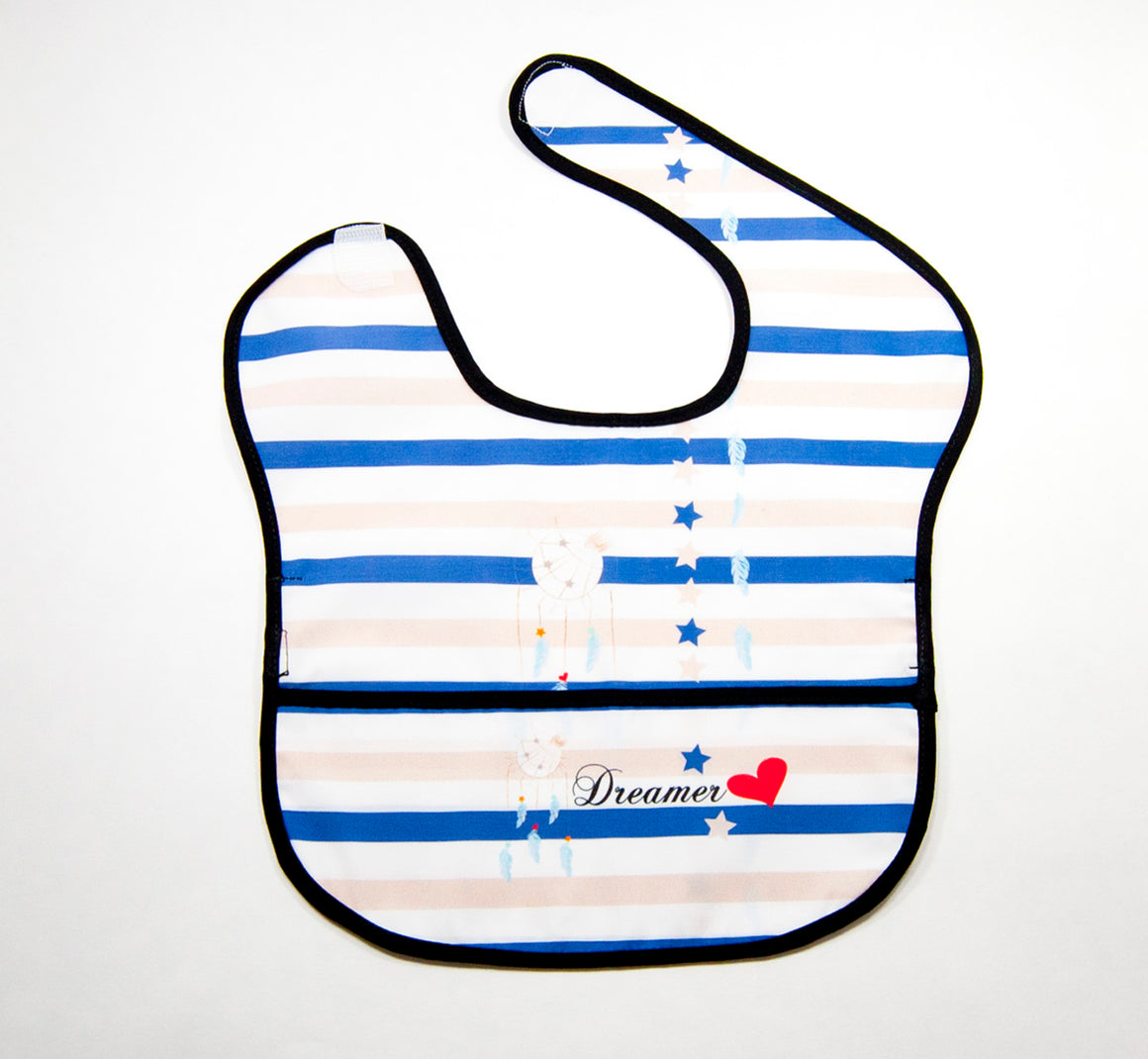 Baby Water Resistant Cotton Bib - Dreamer