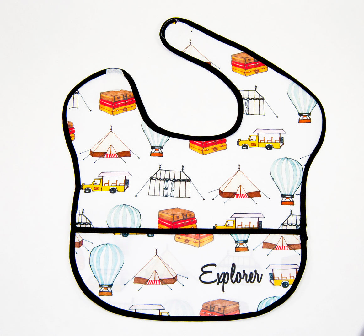 Baby Water Resistant Cotton Bib- Explorer