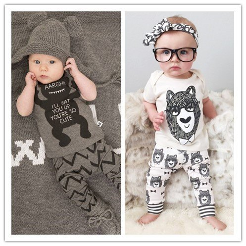 Baby Clothing Sets - Little Monster Clothing Set, Short Sleeve
