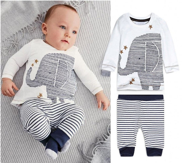 Baby Rompers - Elephant Clothing Set, K&B