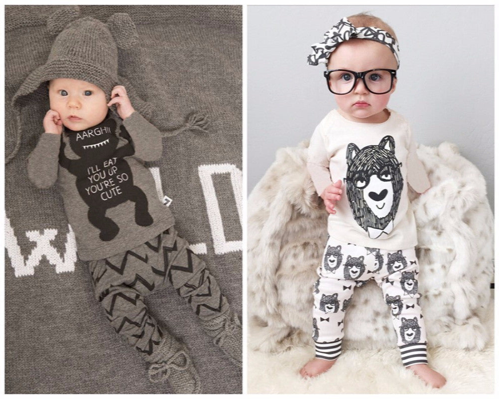 Baby Rompers - Little Monster Clothing Sets, 1set
