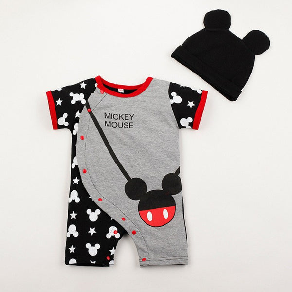 Baby Rompers - Mickey And Minnie Mouse Romper + Hat, K&B