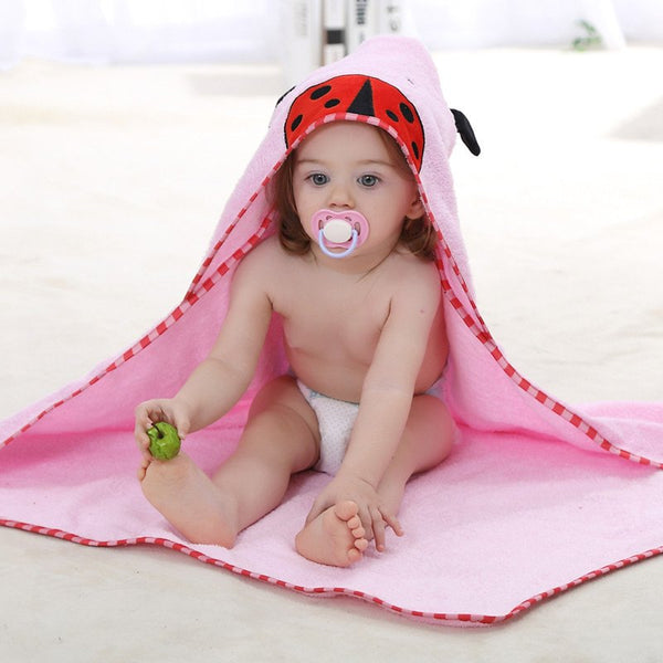 Baby Towels - Hooded Animal Bath Towel, K&B