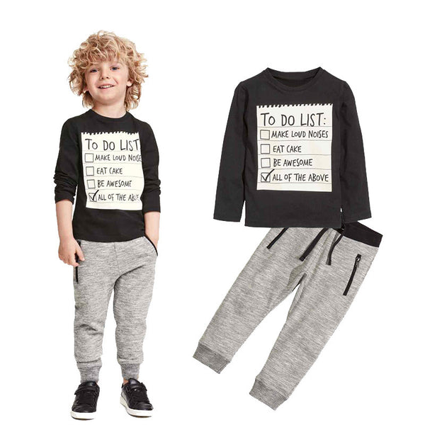 Boys Letter Print  Clothing Set