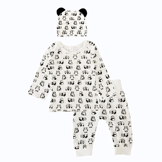 Panda Cotton Baby Three-Piece Set