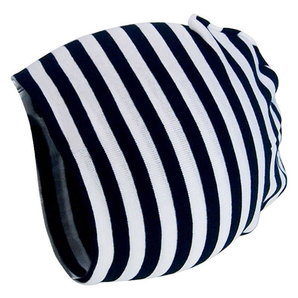 Black & White Stripes Baby Cap