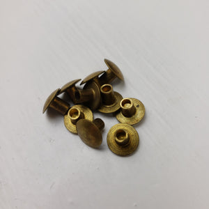 Semi Tubular Rivets - Short Post - M1 Helmet Liners